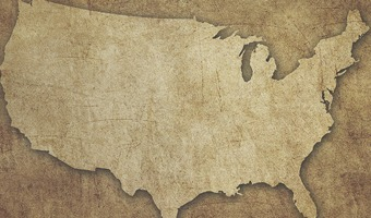 rustic map of the united states