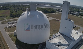 aerial view of sugar dome